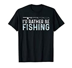 Our I'd Rather Be Fishing T-Shirt is the perfect Tee for a Fisherman. Show that you love fishing fish to your friends and family or the people around you by wearing this Fishing T-Shirt for a Fisherman. It's not just great to wear it on your ...