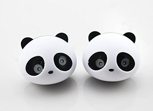 Green 6x4.5cm PVC Qilene 2PCS panda Shape Vent clip auto deodorante profumo con clip