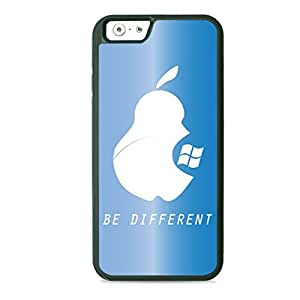 Case Fun Case Fun Light Blue Be Different TPU Rubber Back Case Cover for Apple iPhone 6 4.7 inch