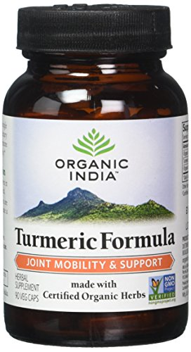 ORGANIC INDIA Natural Turmeric Root Veg Capsules, USDA Certified Organic, High Bioavailability Formula