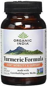 ORGANIC INDIA Natural Turmeric Root Veg Capsules, USDA Certified Organic, High Bioavailability Formula