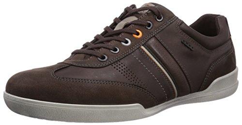 ECCO Men's Enrico Retro Sneaker,Mocha,45 EU/11-11.5 M US