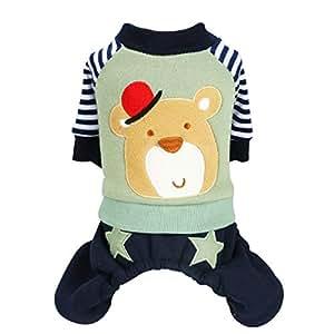 Lianaiy Ropa para mascotas Ropa para Mascotas Ropa para Gatos Cachorros De Otoño E Invierno Ropa