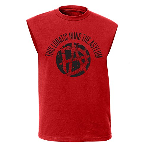 Dean Ambrose Lunatic WWE Mens Sleeveless Red Muscle T-shirt-L by WWE
