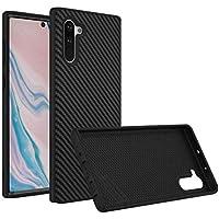 RhinoShield Case für Samsung Galaxy Note 10 [SolidSuit] |Robuste Dünne Schockabsorbierende Schutzhülle 3.5 Meter Fallschutz| Carbon Fiber Schwarz