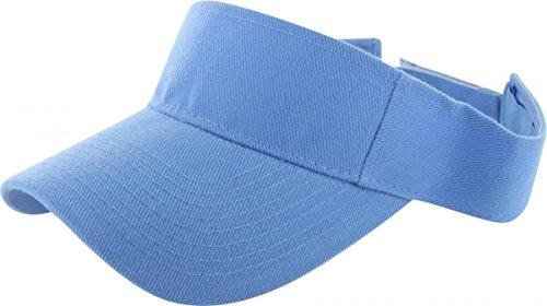 Sky Blue_Plain Visor Sun Cap Hat Men Women Sports Golf Tennis Beach New Adjustable (US (Bcbg Crochet Dress)