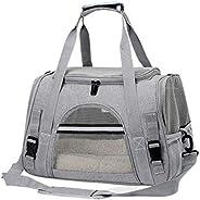 Peiiwdc Bolsa de transporte portátil para animais de estimação, bolsa de ombro único, respirável para cães peq