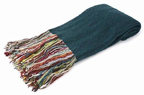 ティールMohair Throw Blanket B00ADWRXQ4