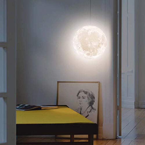 DSHBY Moon Light, Hanging Lamps16 LED Colors Moon Light Lamps Night Lights 3D Printed Moon lamp Mother's and Father's Day,15CM