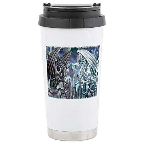 CafePress Ruth Thompson's Checkmate Dragon Stainless Steel T Stainless Steel Travel Mug, Insulated 16 oz. Coffee Tumbler
