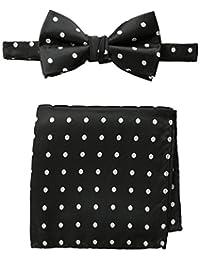 Stacy Adams Men's Satin Dot Bow Tie Set