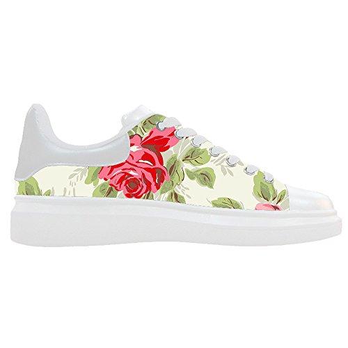 Dalliy Floral Flower Mens Canvas shoes Schuhe Lace-up High-top Sneakers Segeltuchschuhe Leinwand-Schuh-Turnschuhe E