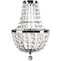 Tadpoles Faux-Crystal & Chrome Pendant Light, Chandelier Style