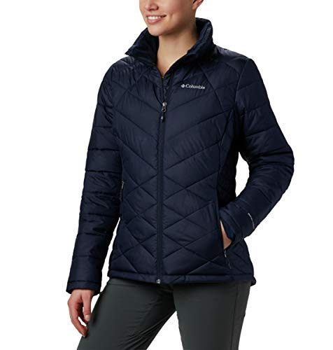 Columbia Women's Heavenly Jacket, Dark Nocturnal, Large (Womens Columbia Omni Heat Jacket)