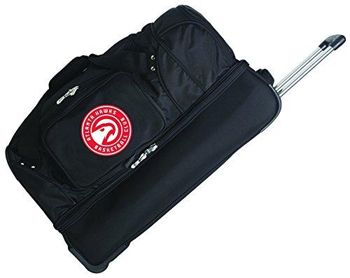 NBA 27'' 2-Wheeled Travel Duffel NBA Team: Atlanta Hawks by Denco Sports Luggage