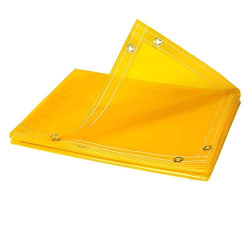 Steiner 334-6X8 Arcview 14 Mil Flame Retardant Tinted Transparent Vinyl Curtain Roll, Yellow, 6' x 8' ()