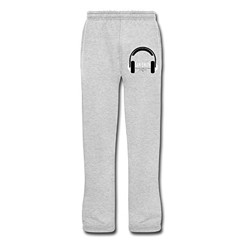 (DHome Men's Running Pants Writing On The Wall Ash)