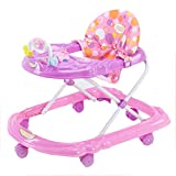 DQZ Music with Toys, Adjustable Children, Baby Walker,Purple