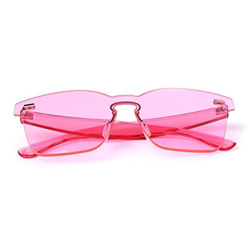 para de caramelos Gafas JAGENIE color T sol diseño Pk mujer de integradas cuadradas gris qTw48t1