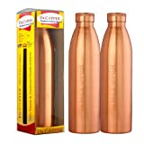 Dr. Copper World's First Seam Less Copper Water Bottle,1 LTR, 2 Bottles