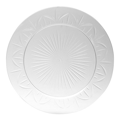 Legacy Plastic Plate, 10.25-Inch Diameter, Clear (120-Count) by WNA