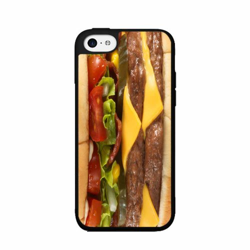 (Cheeseburger - Phone Case Back Cover (iPhone 4 4s Ð 2- piece Dual Layer) includes BleuReign(TM) Cloth and Warranty Label)