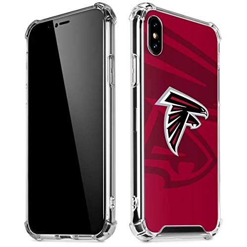 - Skinit Atlanta Falcons Double Vision iPhone Xs Max Clear Case - Officially Licensed NFL Phone Case Clear - Transparent iPhone Xs Max Cover