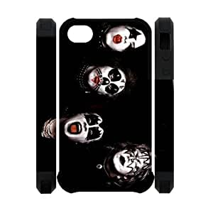 Personalized American Face Paint Rock Band iPhone 4 4S Case KISS Band iPhone 4 4S Cover Plastic Kimberly Kurzendoerfer
