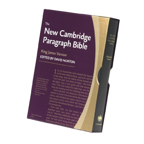 New Cambridge Paragraph Bible, Black Calfskin Leather, KJ595:T Black Calfskin: Personal ()