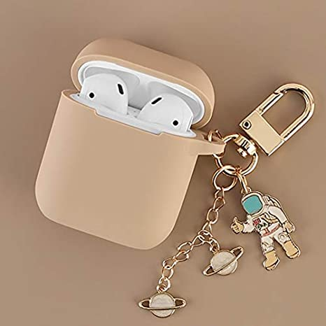 Cosmonaut Astronaut Airpods Case Cover DHJ Airpods Case Color : case Bag Box Headphone Box Key Ring Airpods Protective Cover for Apple Airpods A-