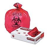 Jaguar Plastics IW3339R Health Care quot;Biohazardquot; Printed Liners, 1.3mil, 33 x 39, Red, 150/Car