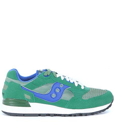 Sneaker Saucony Shadow 5000 en suede y nailon verde esmeralda y azul Verde