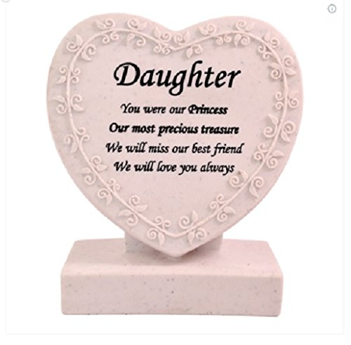 Memorial/Grave Heart ~ Cremation Marker/Plaque ~ DAUGHTER Xpressions