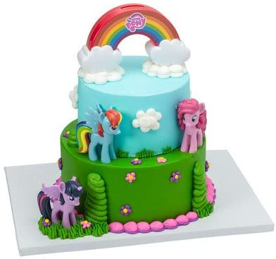 Swell Amazon Com My Little Pony Cake Decorating Kit Kitchen Dining Funny Birthday Cards Online Eattedamsfinfo
