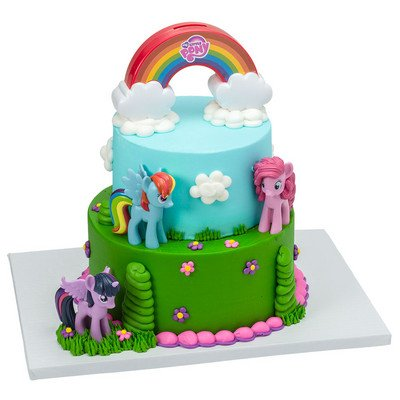 Amazon Com My Little Pony Cake Decorating Kit Kitchen Dining