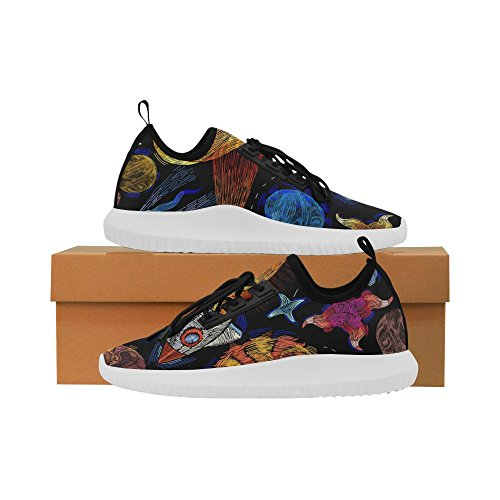 InterestPrint beautiful butterfly on jeans Dolphin Ultra Light Running Shoes for Women Planet 0Ts5v4