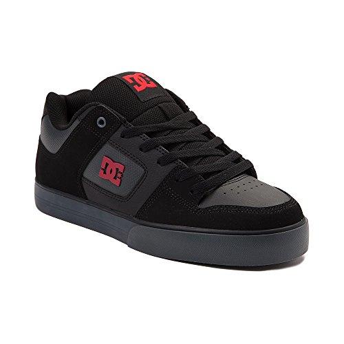 観察製造不合格(ディーシー) DC 靴?シューズ メンズスケートシューズ Mens DC Pure SE Skate Shoe Dark Gray/Red ダーク グレー/レッド US 8 (26cm)