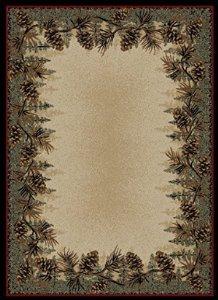 Buy pine cone rug
