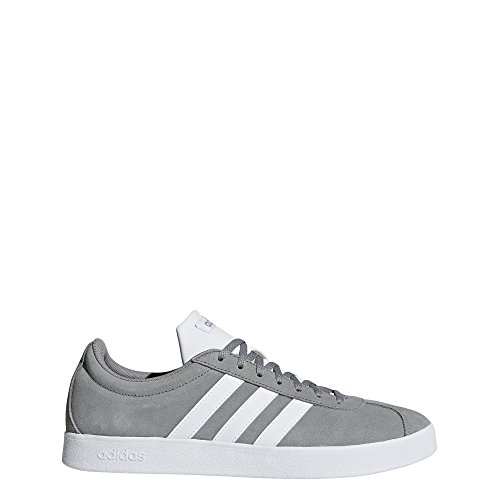 adidas Performance Men's VL Court 2.0 Sneaker, Grey/White/White, 12 M US