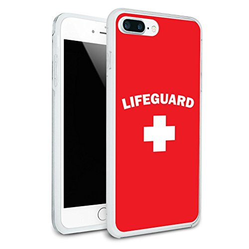 Lifeguard Red and White Protective Slim Fit Hybrid Rubber Bumper Case for Apple iPhone 7 Plus