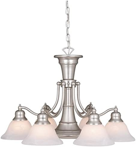 Vaxcel CH30307BN Standford 7 Light Chandelier, 26 x 26 x 18 , Brushed Nickel Finish