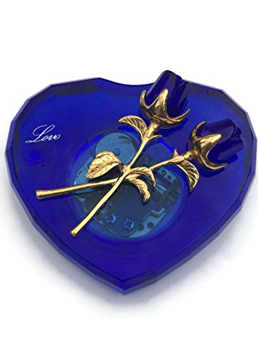 Blue Crystal Music Box Plays Cant Help Falling In Love Best Gift