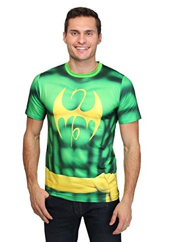 [Mad Engine mens Men's Iron Fist Sublimated Costume T-Shirt White Medium] (Iron Fist Superhero Costumes)