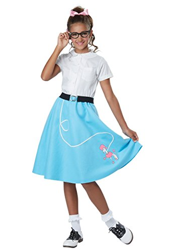 50's Poodle Skirt Costume (Girls 50's Blue Poodle Skirt Costume size Large/XL 10-14)