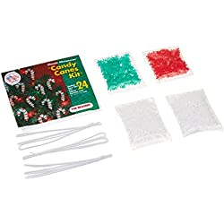 Beadery Holiday Beaded Ornament Kit, 2-Inch, Mini Candy Canes, Makes 24 Ornaments