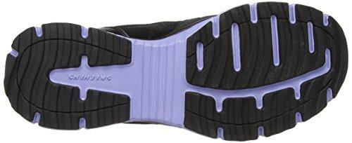 Skechers USA Agility - Free Time Damen Sneaker Schwarz (Black/Lavender)