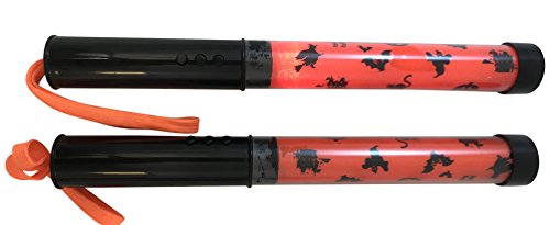 Trick or Treat Wand Halloween Safety Night Light with Sound and Flashing Setting, Set of 2 -