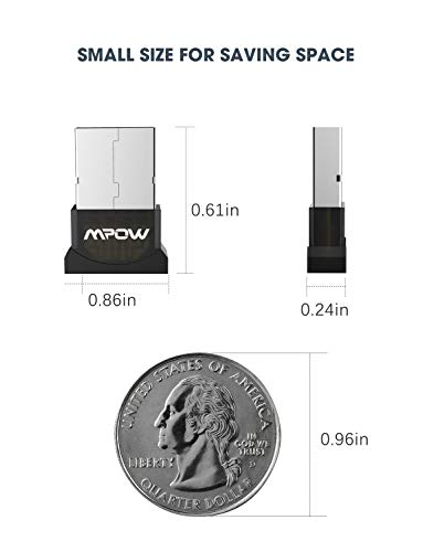 Mpow Bluetooth USB Adapter for PC Bluetooth Dongle for