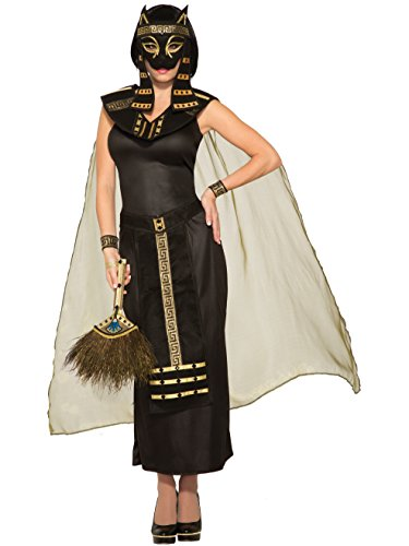 Goddess Mythical Costumes Adult (Mythical Creatures Bastet Egyptian Cat Goddess Women's Adult Halloween)