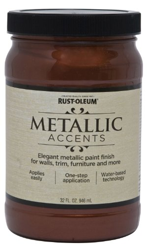 Wall Metallic (Rust-Oleum 253539 Metallic Accents Paint, Quart, Warm Copper)